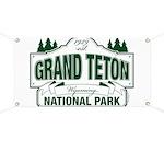 Grand Teton Green Sign Banner