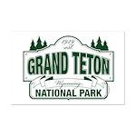 Grand Teton Green Sign Mini Poster Print