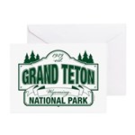 Grand Teton Green Sign Greeting Cards (Pk of 10)