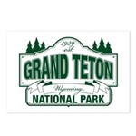 Grand Teton Green Sign Postcards (Package of 8)