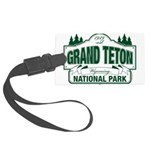 Grand Teton Green Sign Large Luggage Tag