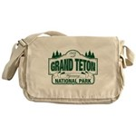Grand Teton Green Sign Messenger Bag