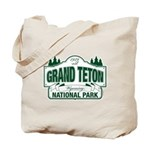 Grand Teton Green Sign Tote Bag
