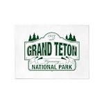 Grand Teton Green Sign 5'x7'Area Rug