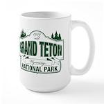 Grand Teton Green Sign Large Mug