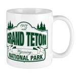 Grand Teton Green Sign Mug