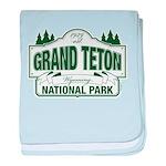 Grand Teton Green Sign baby blanket