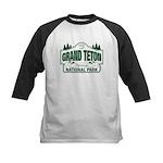 Grand Teton Green Sign Kids Baseball Jersey