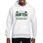 Grand Teton Green Sign Hooded Sweatshirt