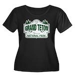 Grand Teton Green Sign Women's Plus Size Scoop Nec