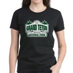 Grand Teton Green Sign Women's Dark T-Shirt