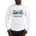 Grand Teton Green Sign Long Sleeve T-Shirt