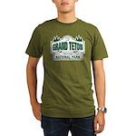 Grand Teton Green Sign Organic Men's T-Shirt (dark