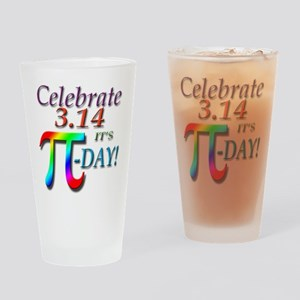 Pi Day Drinking Glass