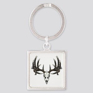 Big whitetail buck Square Keychain
