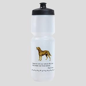 Chesapeake Bay Retriever Dog Quote Sports Bottle