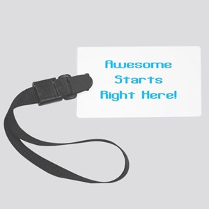 Awesome in Electric Blue Large Luggage Tag