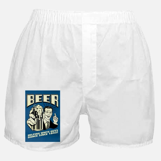 Beer Helping White Guys Dance Boxer Shorts