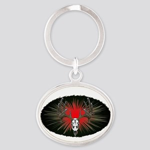 Whitetail buck Oval Keychain