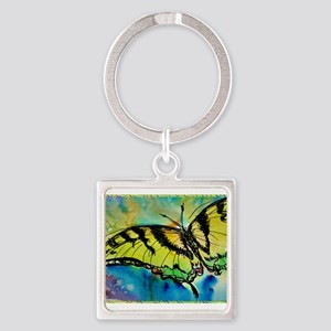 Butterfly! Swallowtail butterfly, art! Square Keyc