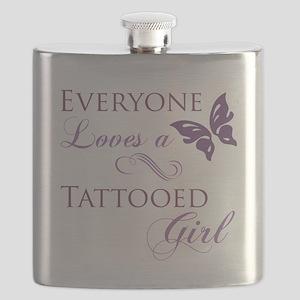 Tattooed Girl Flask