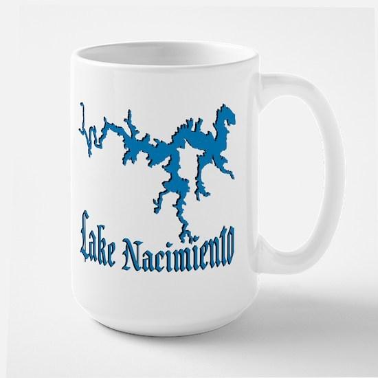 LAKE NACIMIENTO [4 blue] Large Mug