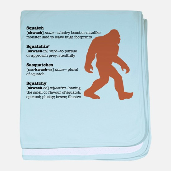 Definition of Bigfoot baby blanket
