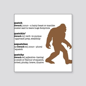 "Definition of Bigfoot Square Sticker 3"" x 3"""
