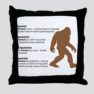 Definition of Bigfoot Throw Pillow