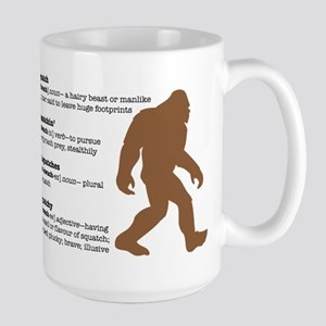 Definition of Bigfoot Large Mug