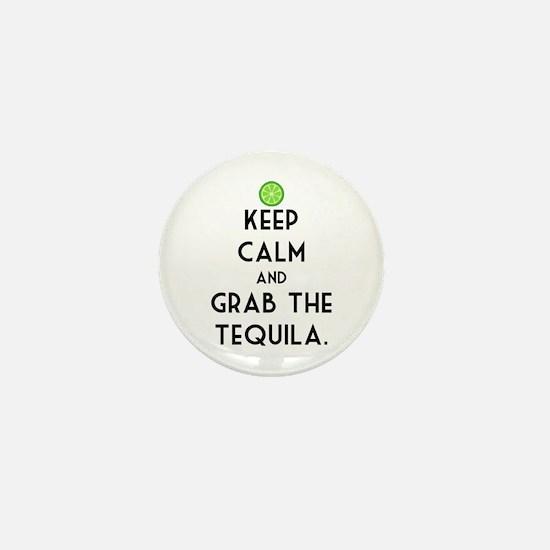 Grab The Tequila Mini Button