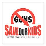 I support gun control Square Car Magnets