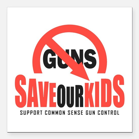 """Save Our Kids Square Car Magnet 3"""" x 3"""""""