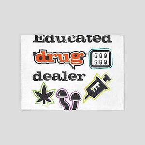 Educated drug dealer 5'x7'Area Rug