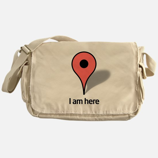 Google Map marker Messenger Bag