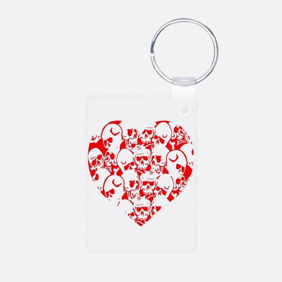 Skulls Heart Red Keychains