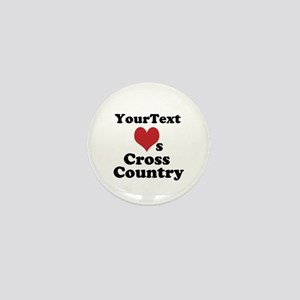 Customize Loves Cross Country Mini Button