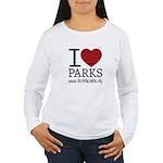 I Heart Parks Women's Long Sleeve T-Shirt