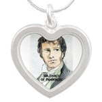 Mr Darcy Of Pemberley Silver Heart Necklace