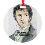 Mr Darcy Of Pemberley Round Ornament