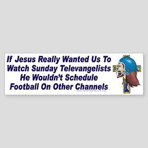Jesus and Sunday Football Bumper Sticker