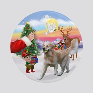 Treat for a Golden (K1) Ornament (Round)