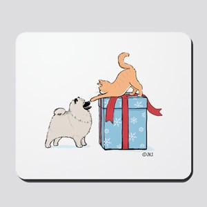 Keesie Puppy with Kitten Mousepad