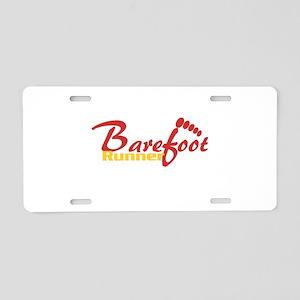 BarefootRunner2 Aluminum License Plate