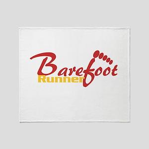 BarefootRunner2 Throw Blanket