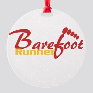 BarefootRunner2 Round Ornament