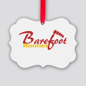 BarefootRunner2 Picture Ornament
