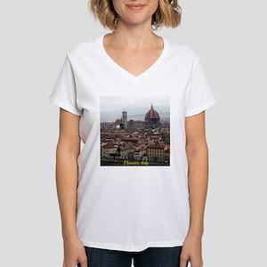 Florence Cityscape Women's V-Neck T-Shirt