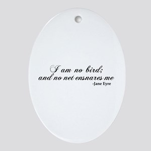 No Net Ensnares Me Ornament (Oval)