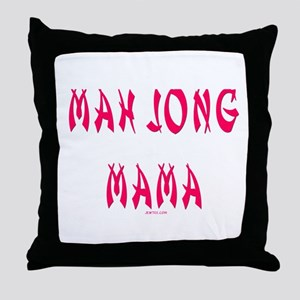 Mah Jong Mama Throw Pillow